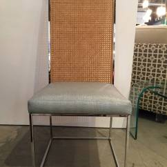 Cane Dining Chairs For Sale Kitchen Chair Cushions At Target Set Of Eight Milo Baughman Chrome And Back
