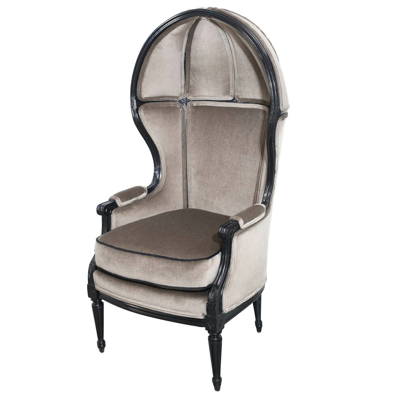 Hooded Chair French Hooded Chair Newly Lacquered And Newly Upholstered