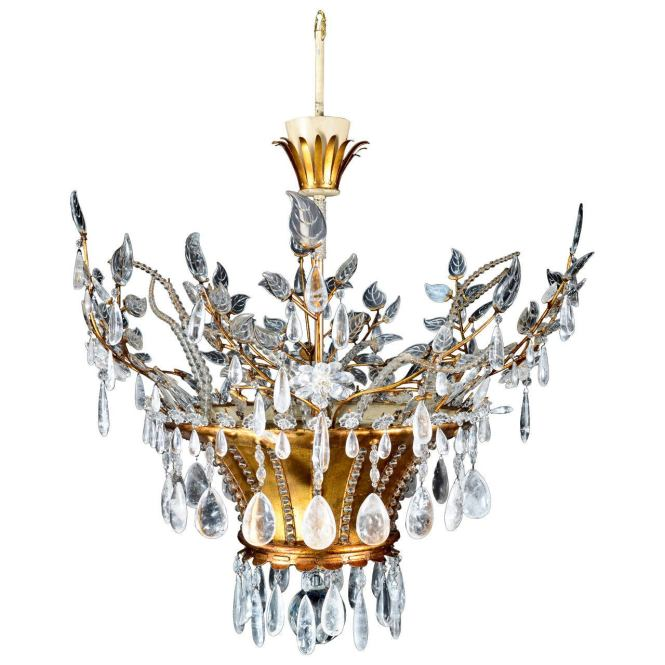 Magnificent Antique French Louis Xvi Style Bagues Rock Crystal Chandelier 1