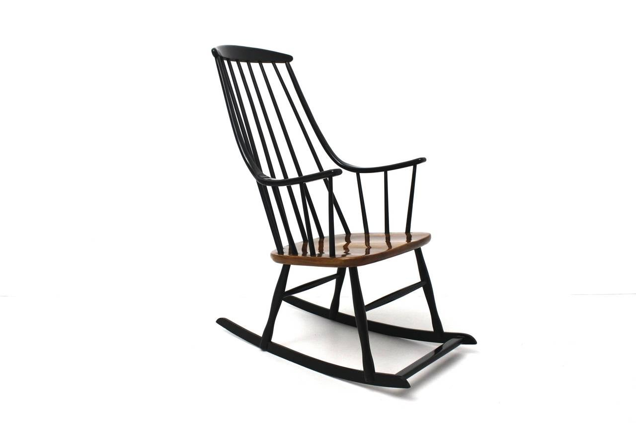 black rocking chairs outdoor chaise lounge chair with ottoman scandinavian modern grandessa by lena