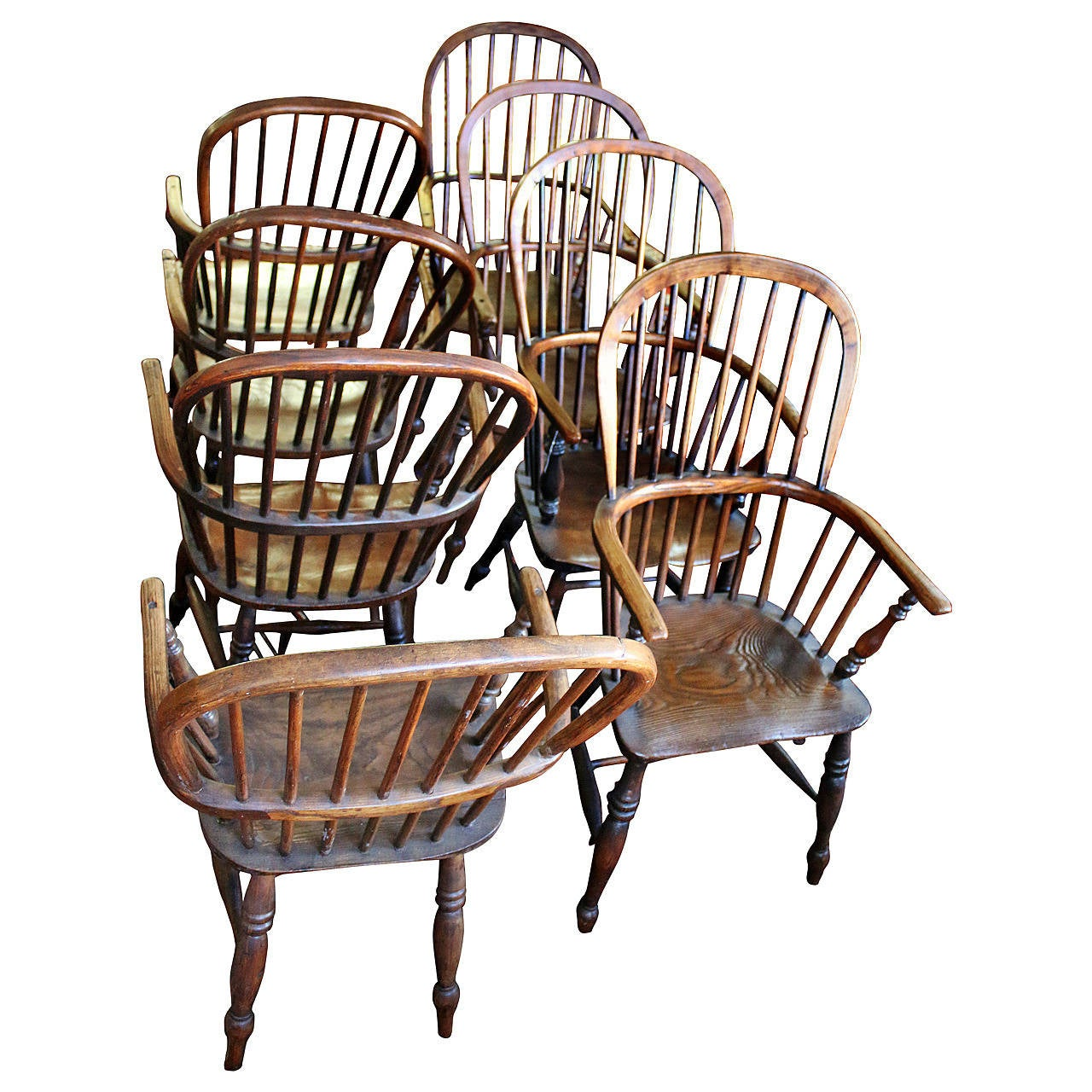 windsor back chairs for sale chair rail designs ideas 18th century set of eight high dining