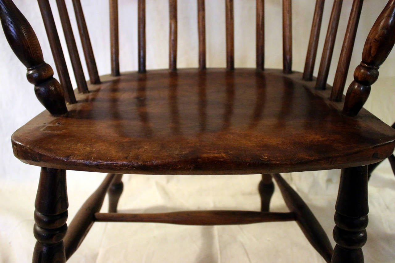 windsor chair with arms white kitchen chairs 18th century set of eight high back dining