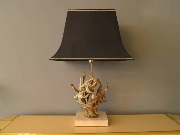 """Large French Gilt Brass """"tropical Fish"""" Table Lamp 1stdibs"""