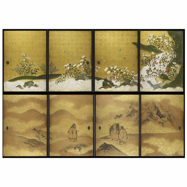 Japanese Painting Screen Doors