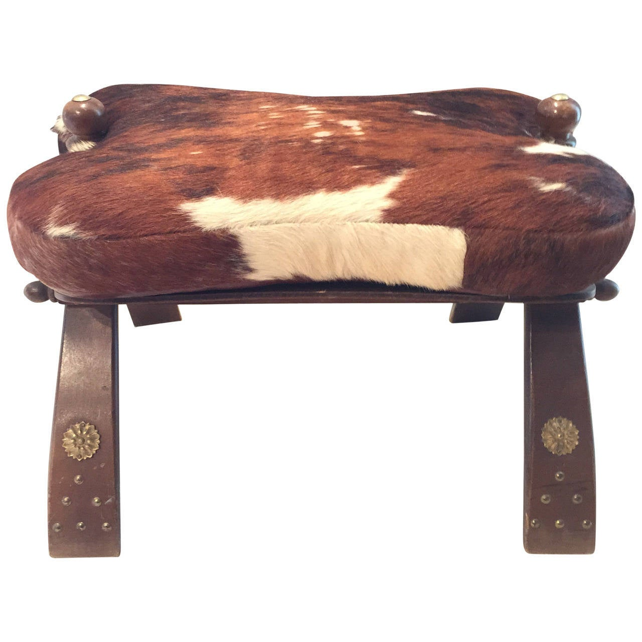 hair on hide chair mats camel saddle seat with leather at 1stdibs