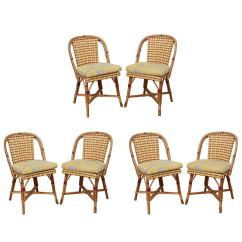 French Rattan Bistro Chairs Home Goods Dining Room Set Of Six And Caned Quotalma Quot Cafe By