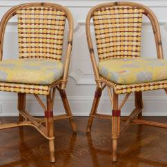 French Rattan Bistro Chairs Adrian Pearsall Chair Set Of Six And Caned Quotalma Quot Cafe By