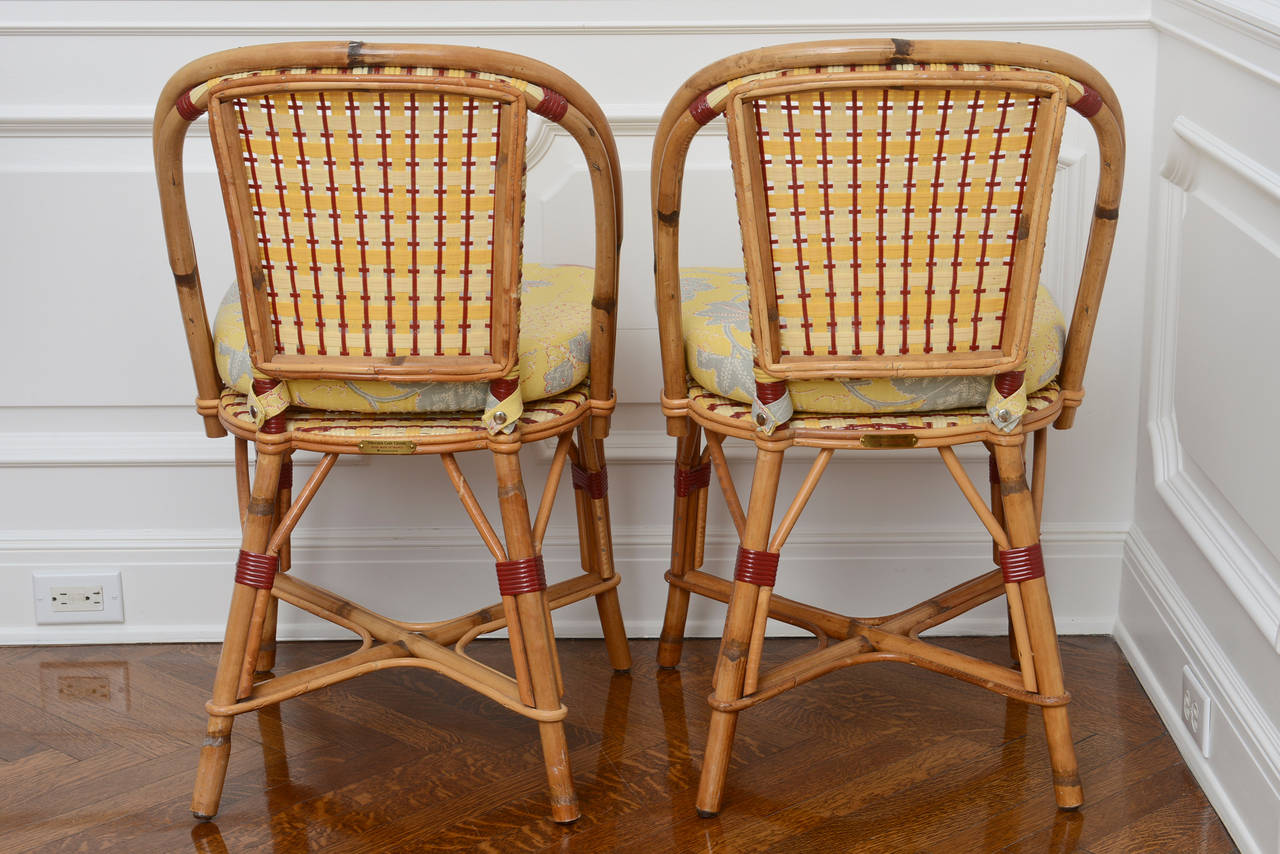 french rattan bistro chairs maple kitchen set of six and caned quotalma quot cafe by