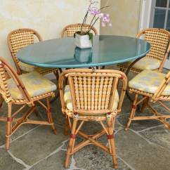 French Rattan Bistro Chairs Tiger Print Chair Set Of Six And Caned Quotalma Quot Cafe By
