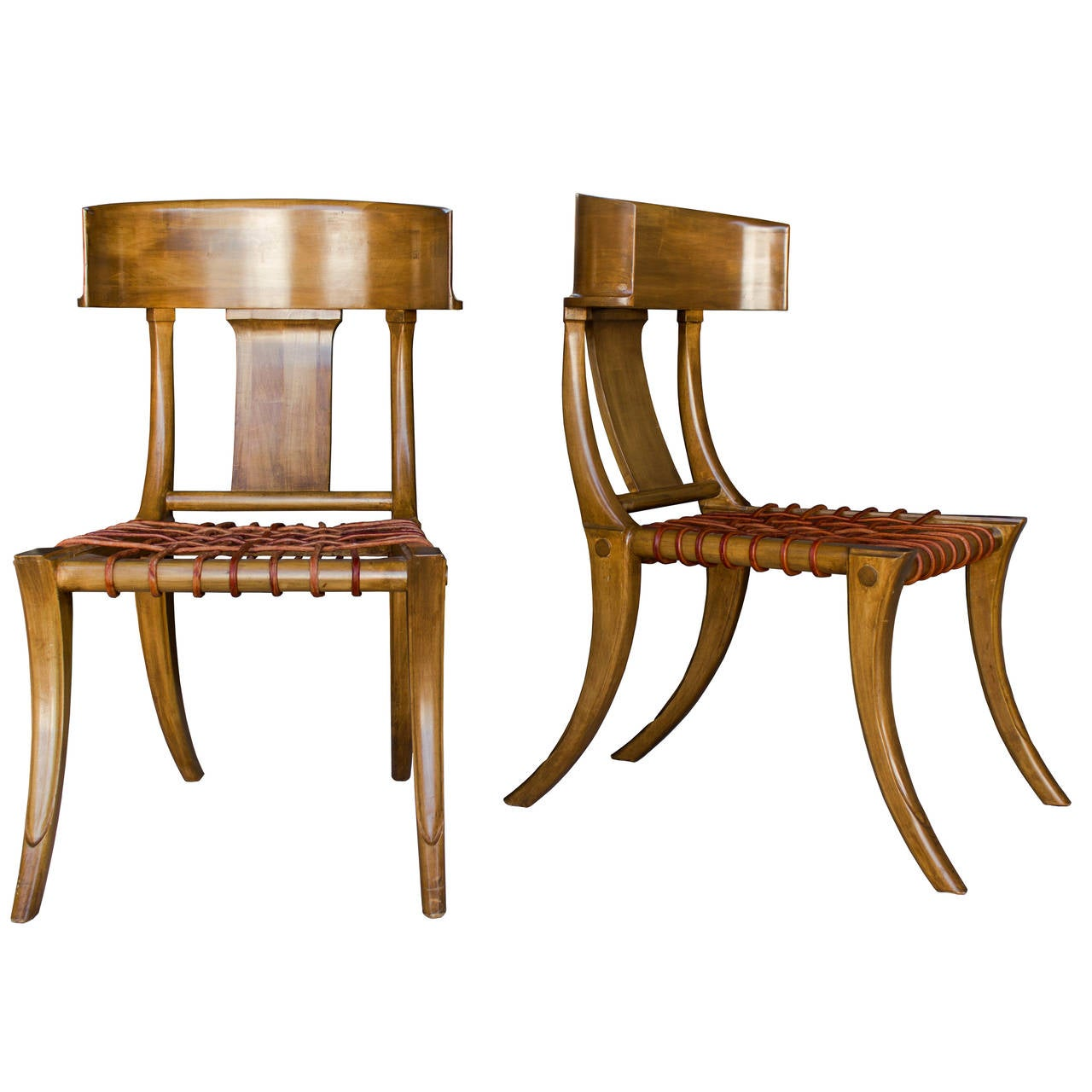 Klismos Chair Handsome Pair Of Klismos Chairs By Kreiss At 1stdibs
