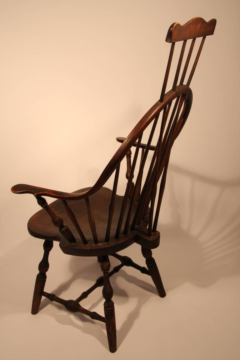 comb back windsor chair hanging luxury 18th century ct continuous arm with extension (eb tracy) at 1stdibs
