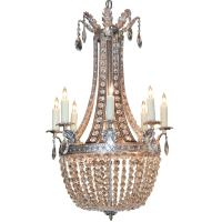 Continental Silver and Crystal Basket Chandelier at 1stdibs