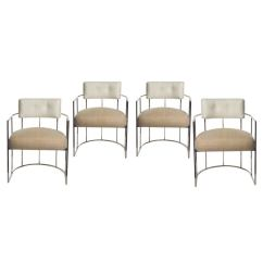 Bauhaus Swivel Chair Clear Set Of Four Milo Baughman Barrel-back Chrome Dining Chairs At 1stdibs