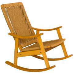 Hans Wegner Rocking Chair Navy Living Room Style Rope Rocker At 1stdibs