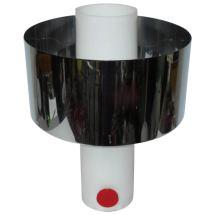 Italian Acrylic Table Lamp With Chrome Shade 1stdibs