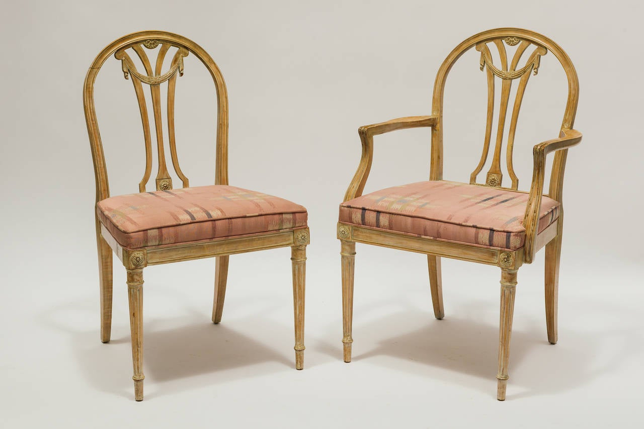 set of six dining chairs for sale bathtub sitting chair baby french style at 1stdibs