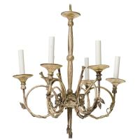 French Style Silvered Chandelier with French Horns For ...