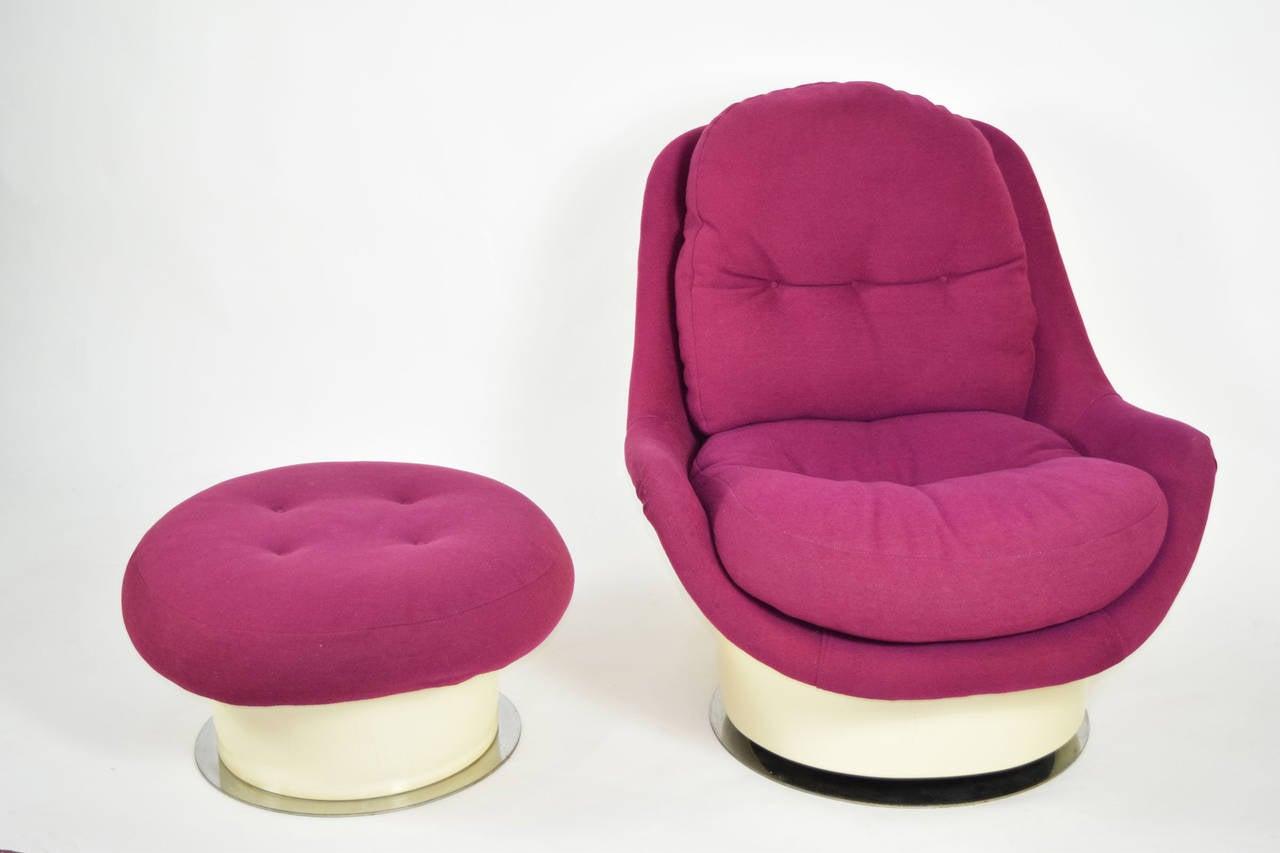 zac swivel chair scandinavian design covers milo baughman lounge and ottoman for sale at 1stdibs