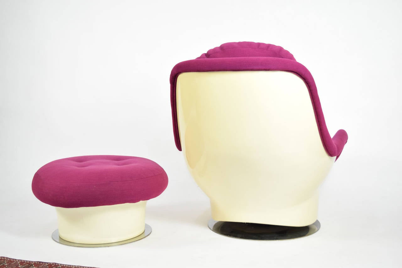 zac swivel chair beach chairs sold at cvs milo baughman lounge and ottoman for sale 1stdibs