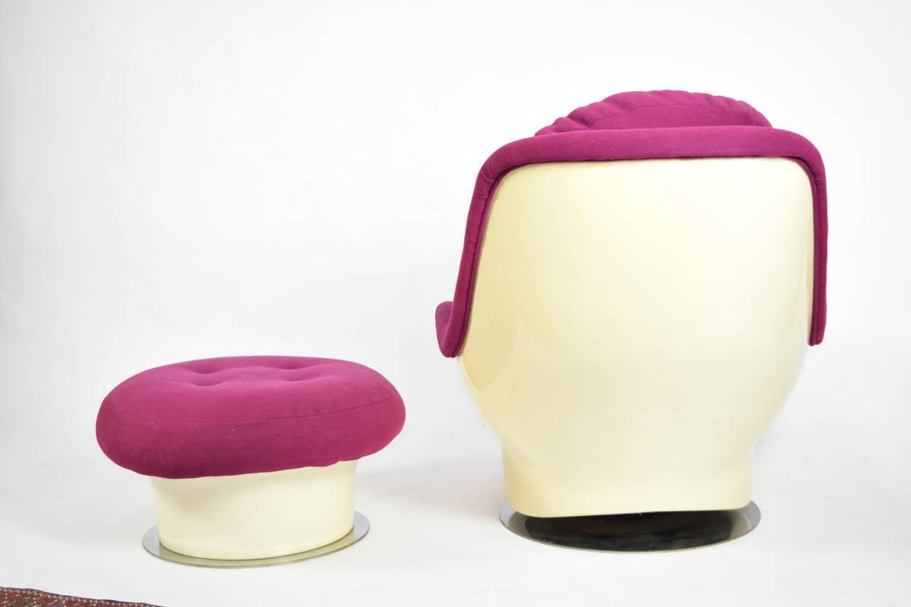 zac swivel chair covers for wedding walmart milo baughman lounge and ottoman sale at 1stdibs