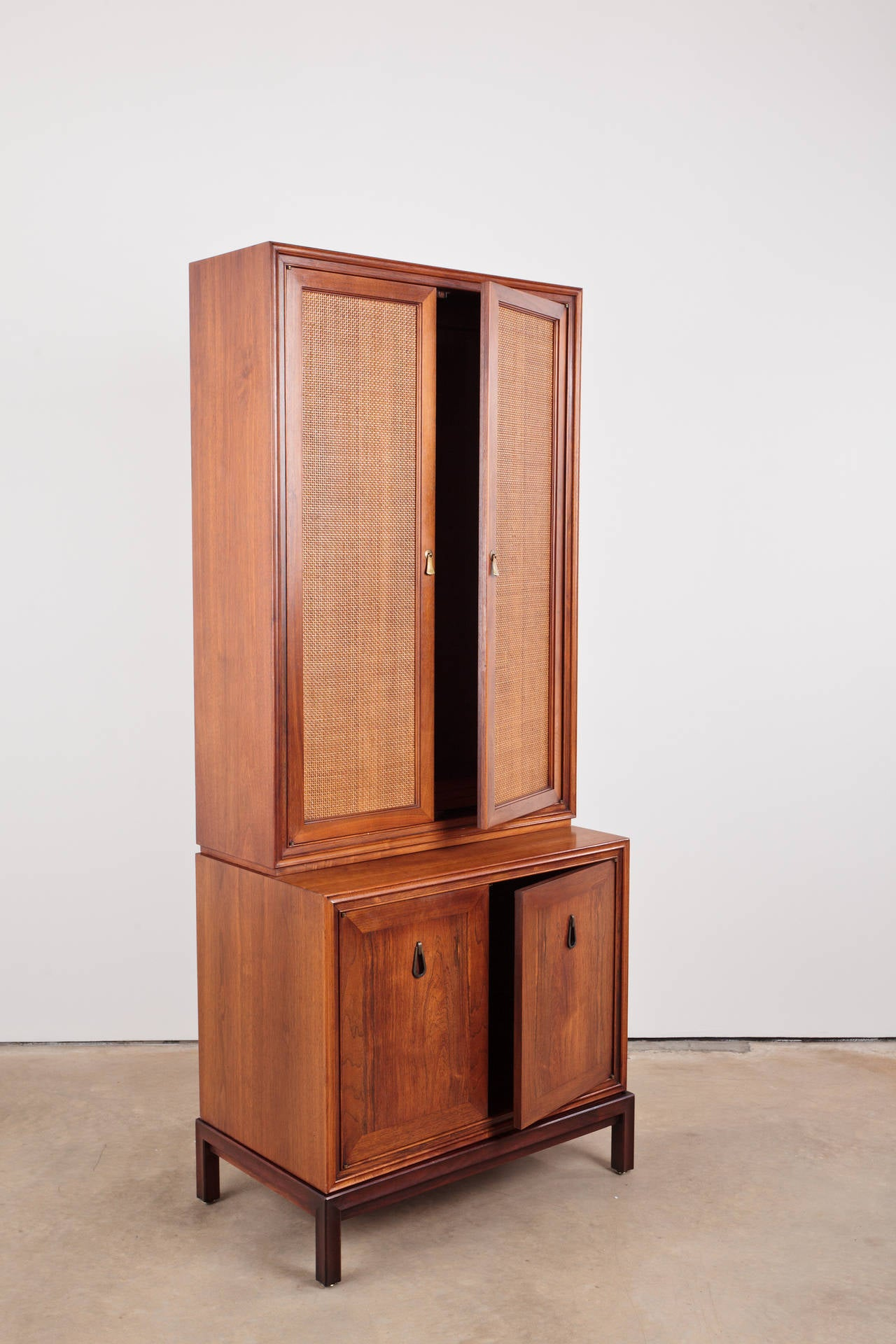 Mid Century Modern Walnut and Rosewood Cabinet at 1stdibs