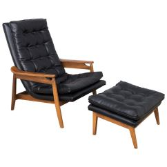 Milo Baughman Chair Comtek Massage Lounge And Ottoman At 1stdibs