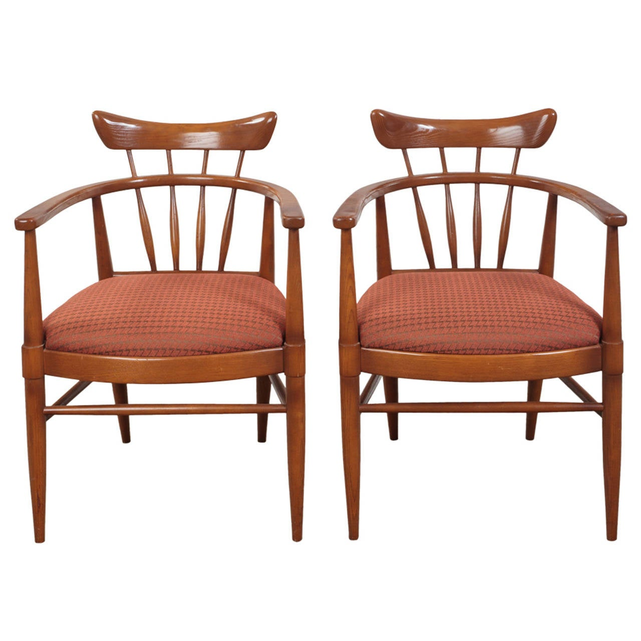 Drexel Chairs Edward Wormley For Drexel Brace Back Arm Chairs For Sale