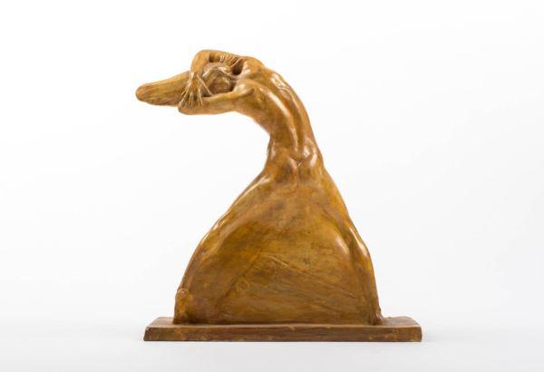 Art Nouveau Woman Bronze Sculpture Dancer