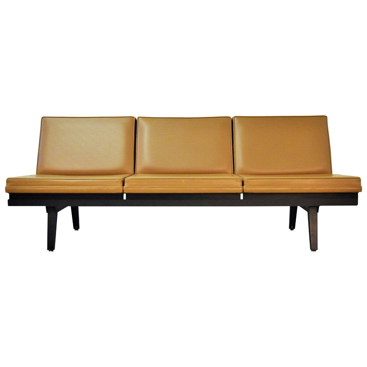 lobby sofa crossword cost to recover chesterfield george nelson steel frame at 1stdibs