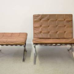 Barcelona Chair Used Library Ladder Ludwig Mies Van Der Rohe And Ottoman At