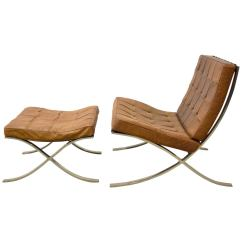 Barcelona Chair Used Office Under 100 Ludwig Mies Van Der Rohe And Ottoman At