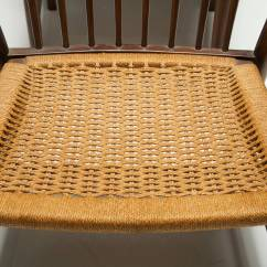 String Chair Seat Maker Jim Steel Stunning Pair Of Mid Century Chairs With Woven