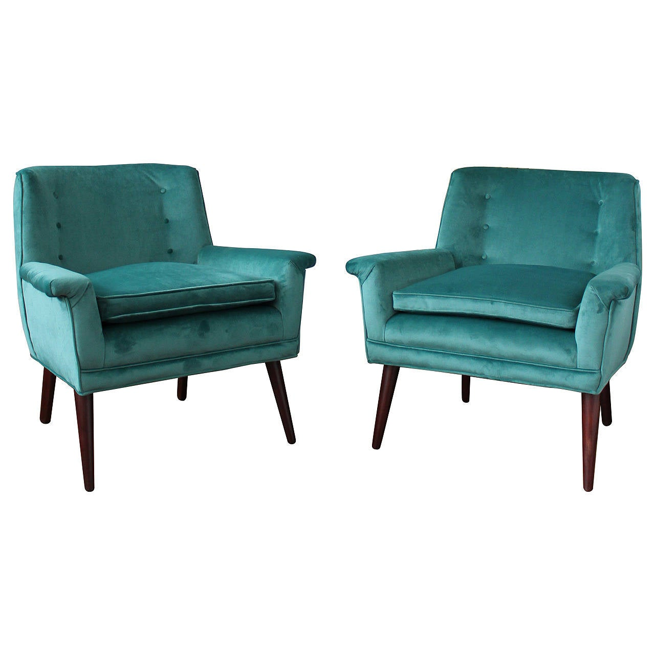 teal lounge chair summer infant portable high exceptional pair of paul mccobb style chairs in