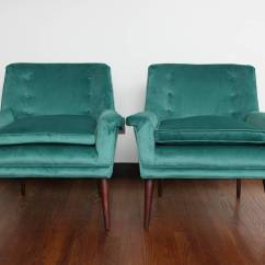 Teal Club Chair Office Mat For Hardwood Floors Exceptional Pair Of Paul Mccobb Style Lounge Chairs In