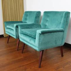 Teal Lounge Chair Camo Cover Exceptional Pair Of Paul Mccobb Style Chairs In