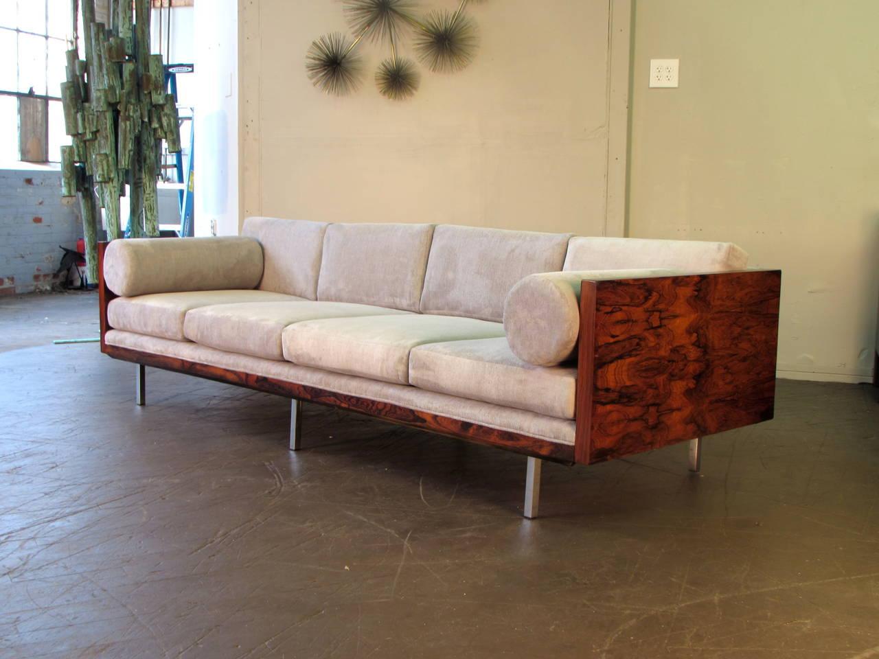 thayer coggin clip sofa corinthian manufacturer milo baughman for in