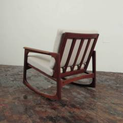 Danish Modern Rocking Chair Ladder Back Dining Chairs With Arms Jacob Kjaer Teak At 1stdibs