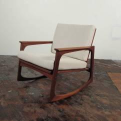 Danish Modern Rocking Chair Turquoise Lounge Cushions Jacob Kjaer Teak At 1stdibs