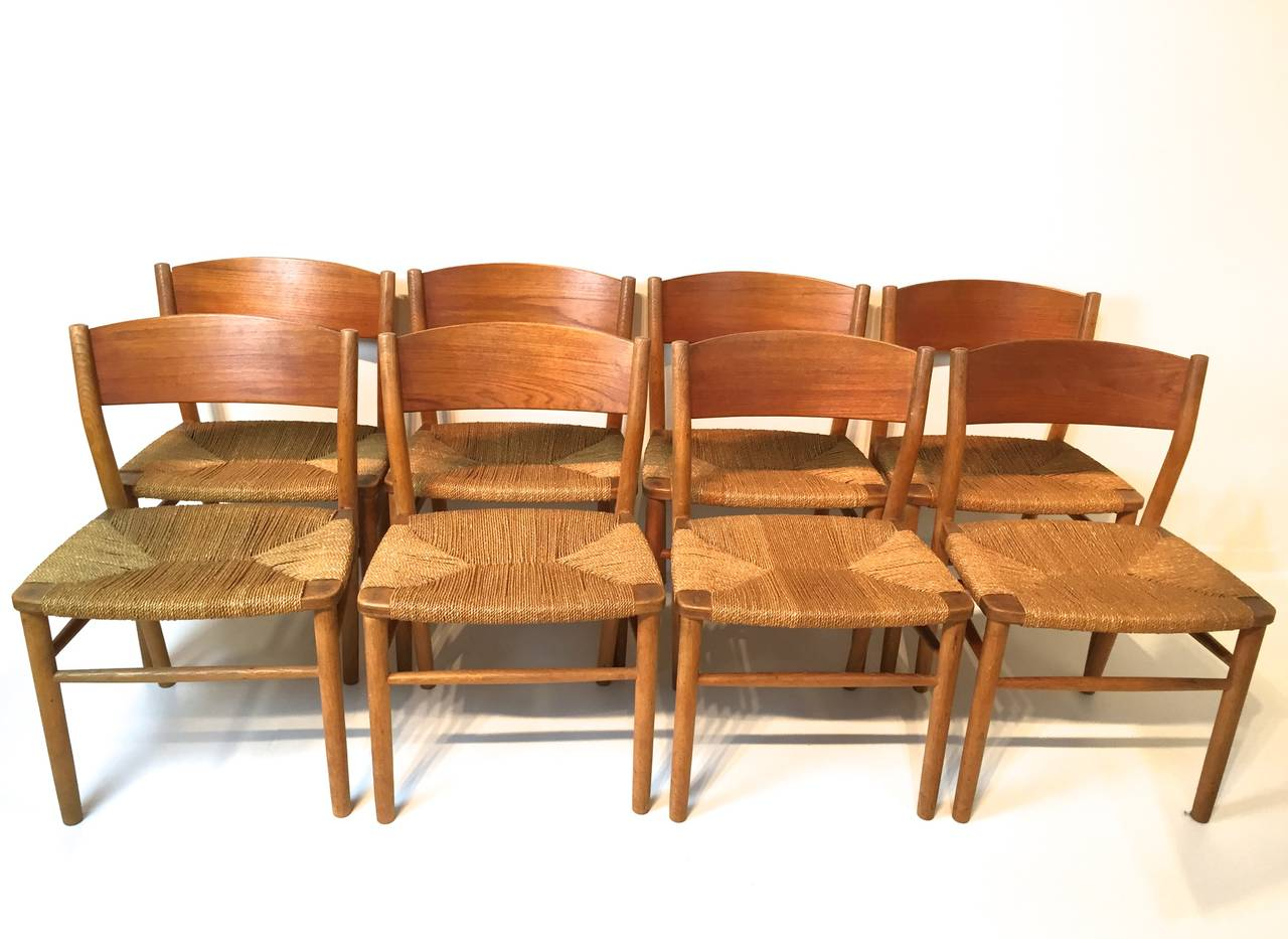seagrass dining chairs brown folding chair covers borge mogensen at 1stdibs