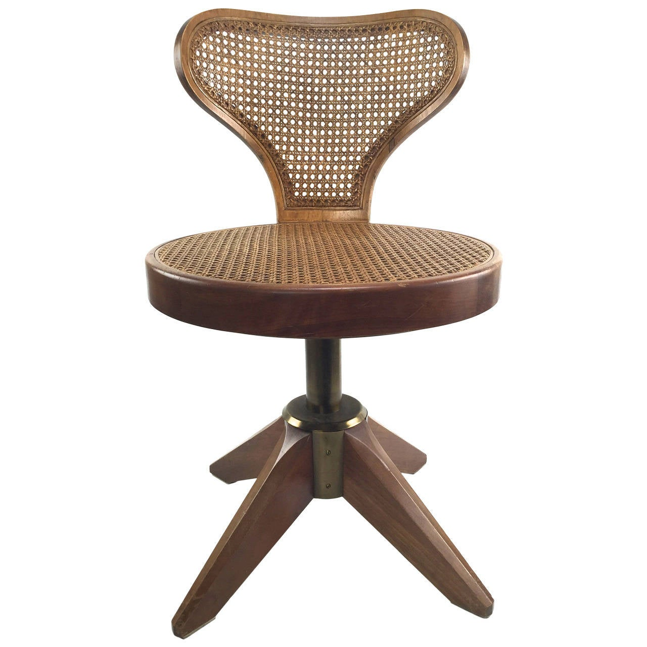 swivel chair wooden legs for hemorrhoids striking caned on splayed sale at