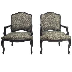 Bergere Chairs Single Bed Fold Out Chair Pair Of Monochromatic French Style At 1stdibs