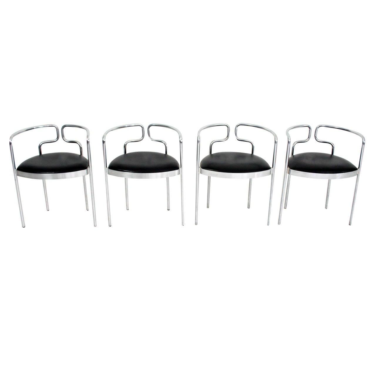 Rare Set Of Henning Larsen Dining Chairs For Fritz Hansen