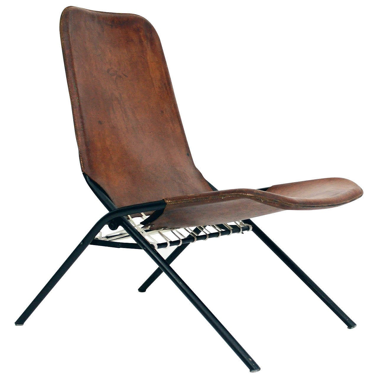 foldable lounge chair revolving with price rare 1950s olof pira fällstol folding leather