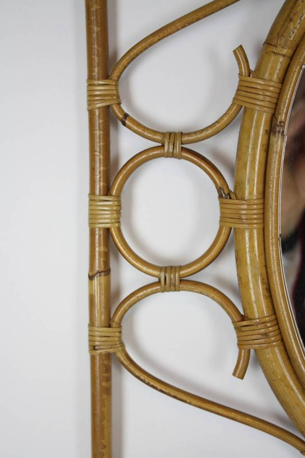 Spanish Rattan And Bamboo Rectangular Mirror 1stdibs