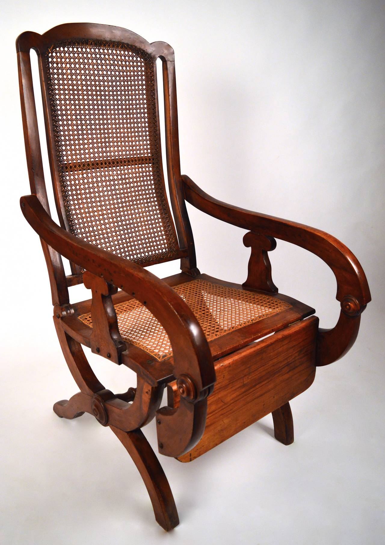 Colonial Chair 19th Century British Colonial Reclining Chair For Sale At