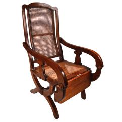 British Colonial Chair Peacock Color 19th Century Reclining For Sale At 1stdibs