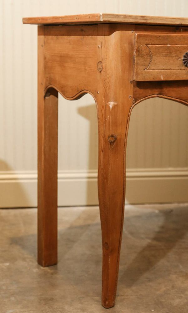 French Country Pine Console Table With Three Drawers 1stdibs