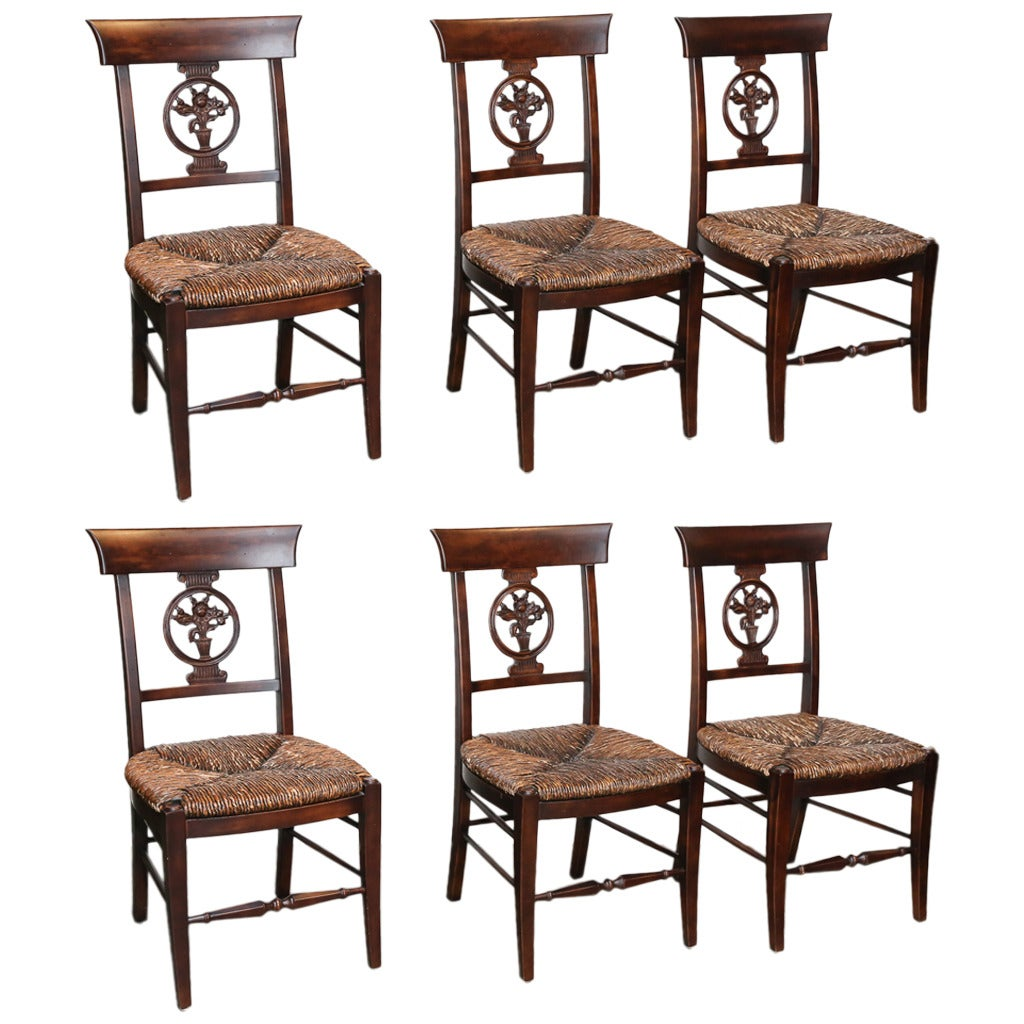 how to rush a chair baby table and chairs set of six seat for sale at 1stdibs