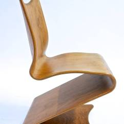 Folding Wood Chair Brown Office Chairs Verner Panton