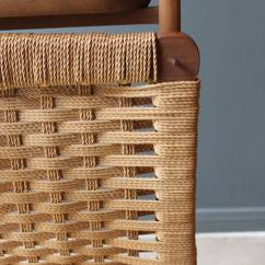 Teak Folding Chair Dining Room Chairs Made In Usa Vintage Wood Valet With Woven Caned Seat, Mid-20th Century At 1stdibs